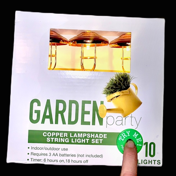 Garden Party Other - Garden Party Copper Lampshade String Lights